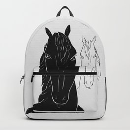 Horse couple Backpack