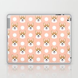 Corgi polka dots peach blush pastel pink coral welsh corgi iphone case for dog lover gifts for dogs Laptop & iPad Skin