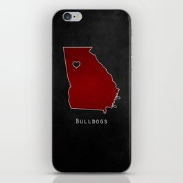 Red and Black iPhone Skin