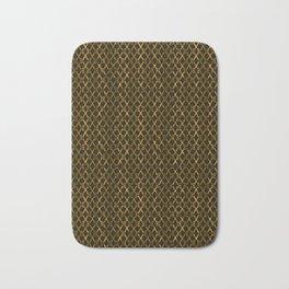 Golden Brown Scissor Stripes Bath Mat