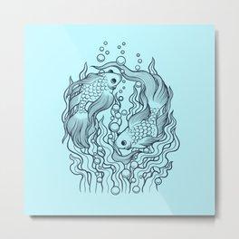 Golden fish 2 Metal Print