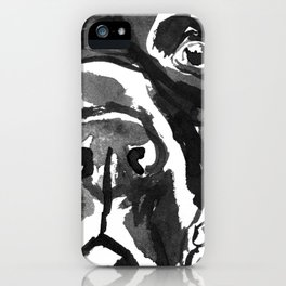 Black Lab - front view iPhone Case
