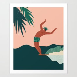 Go with a flow Art Print