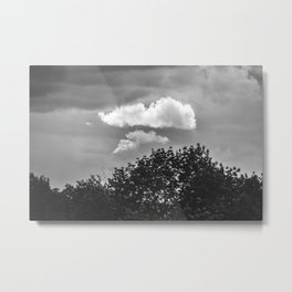 Silver Cloud Metal Print