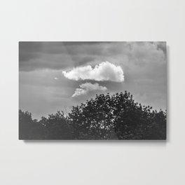 Silver Cloud Metal Print