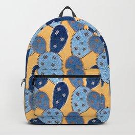 Denim Cactus Patchwork Quilt (Camel) Backpack