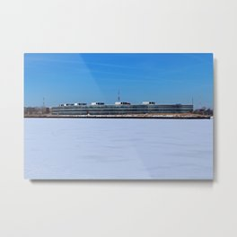 Owens Corning in Winter Metal Print