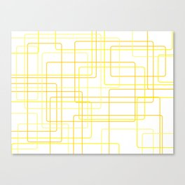 Yellow Line Pattern Canvas Print