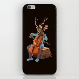 Musician animals in the wood iPhone Skin