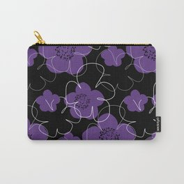 Purple Blooms Carry-All Pouch