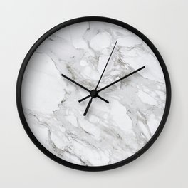 White Marble Wall Clock