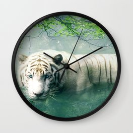 Lonely Tiger 2 Wall Clock