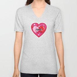 Happy Hearts Unisex V-Neck