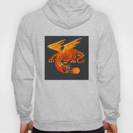 Pixel Fiery Dragon Hoody