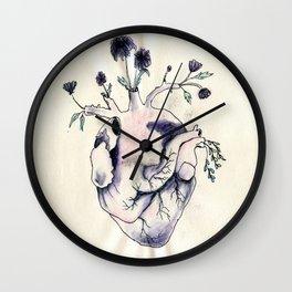 Garden of Flowers growing in my heart Wall Clock