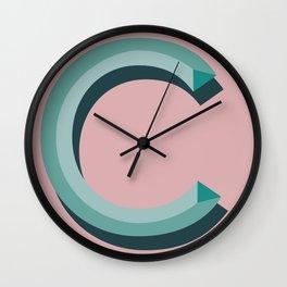 c blush Wall Clock
