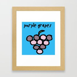 purple grapes Framed Art Print