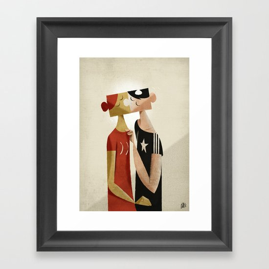 The puzzle Framed Art Print