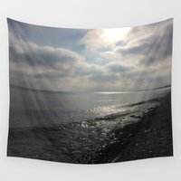 michigan Wall Tapestries featuring Lake Michigan by A&N2218