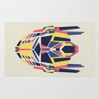 optimus prime Area & Throw Rugs featuring Prime by Fimbis
