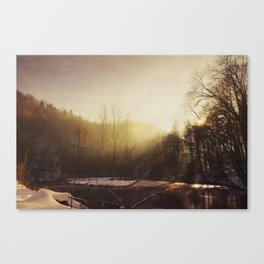 Winter At the River Canvas Print