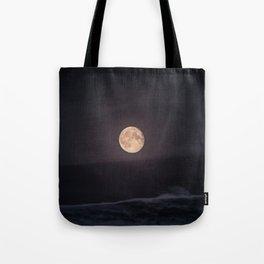Full Moon over the Ocean Tote Bag