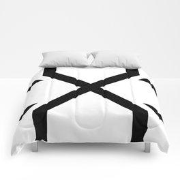 Crossed X Black Comforters