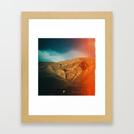 love is in the mountain Framed Art Print