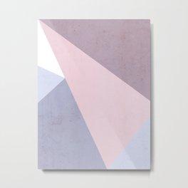 Nude Tones Geometry Metal Print