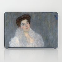 gustav klimt iPad Cases featuring Portrait of Hermine Gallia by Gustav Klimt by Palazzo Art Gallery