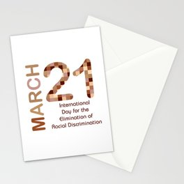 International day for the elimination of racial discrimination- March 21 Stationery Cards