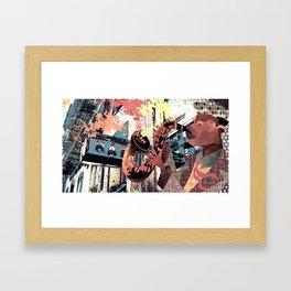 Sax Power Framed Art Print