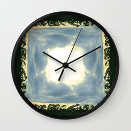 crack in the sky Wall Clock