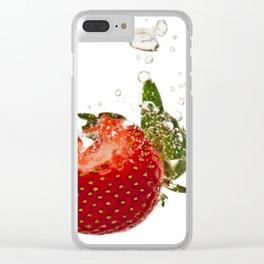 Strawberry splash Clear iPhone Case