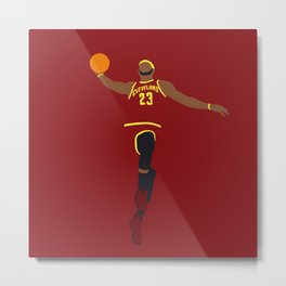 NBA Players | Lebron Dunk Metal Print