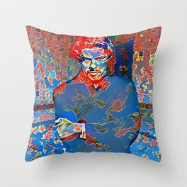 Portrait of A Young Immigrant Throw Pillow