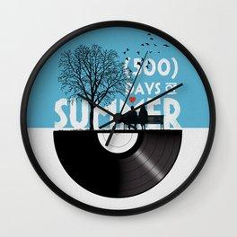 500 days of summer art Wall Clock