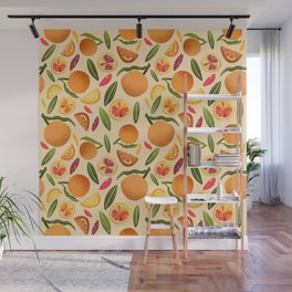 Citrus Burst Pattern Wall Mural