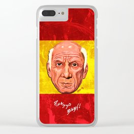 Pablo Picasso Remixed Clear iPhone Case