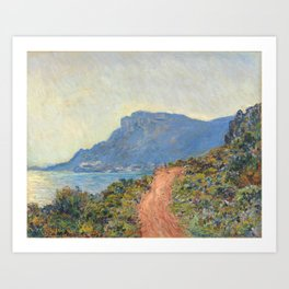 Claude Monet La Corniche near Monaco 1884 Art Print