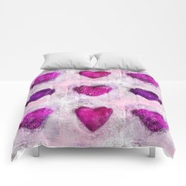 Pink Passion colorful heart pattern Comforters