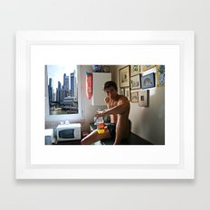 Singapore boy Framed Art Print