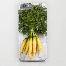 Organic Vegetable - Organic Yellow Carrots On Old White Wood iPhone 6s Slim Case