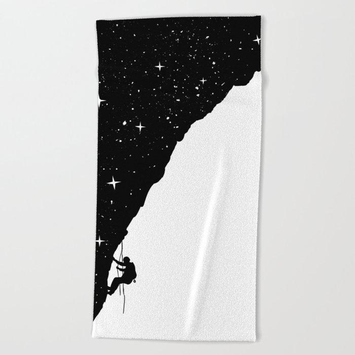 night climbing Beach Towel