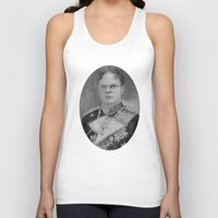 dwight Tank Tops featuring Kaiser Dwight by ThePencilClub