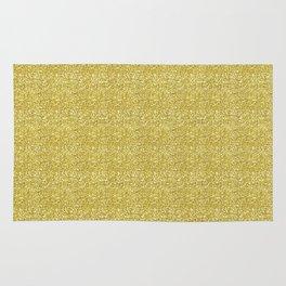 Chunky gold glitter Rug