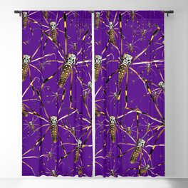 Watercolor Graphic Spider Crawl, Golden Orb Weaver Royale Blackout Curtain