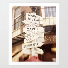 Lead me to Italy Art Print