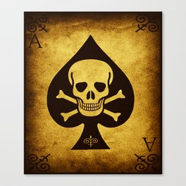 Death Card - Ace Of Spades Canvas Print