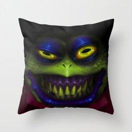 Stinky Toad Throw Pillow